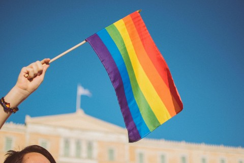 Pride flag. Photo: Stavrialena Gontzou/Unsplash